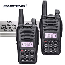 2PCS Baofeng UV-B6 Dual Band Walkie Talkie 10 KM Pofung 2000mAh 7.4 V Portable Ham Radio Transceiver PTT Telsiz CB Two Way Radio(China)