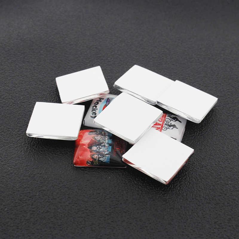 JWEIJIAO DIY Индивидуальный заказ для квадратного стеклянного кабошона фото талисманы для брелка серьги Demo плоская задняя делая результаты Na01