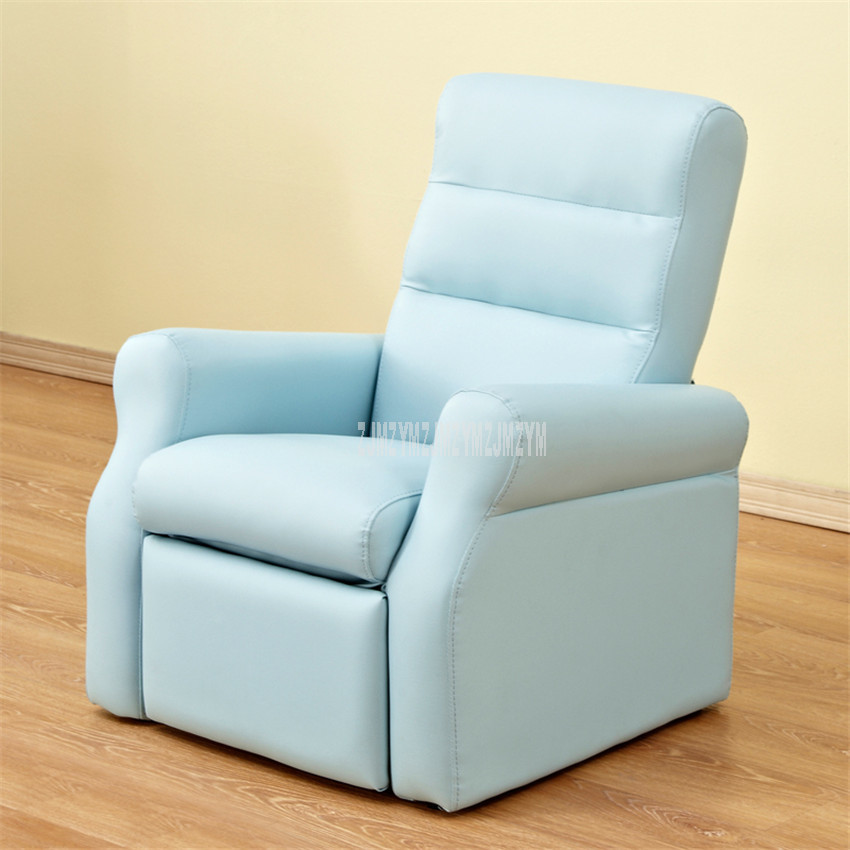 Ergonomic Design High Quality PU Leather Soft Lying/Sitting Children Sofa Baby Kids Lazy Sofa Chair With Footrest Sponge Filler