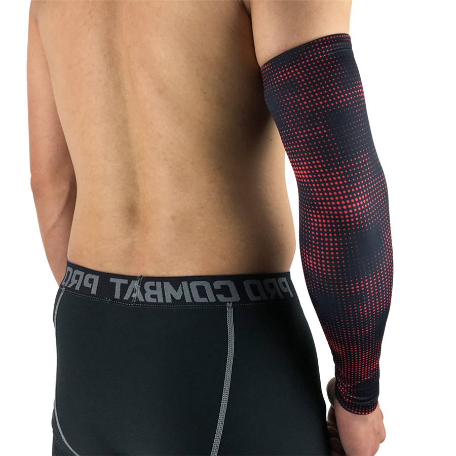 e0208930bb 1 PCS Printed Sports Running Arm Sleeves Breathable Lycra Basketball  Compression Arm Sleeves Cover For Sun Protection -in Running Arm Warmers  from Sports ...