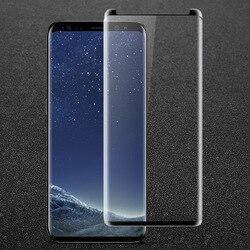 IMAK 3D pełny ekran do Samsung Galaxy S9 Plus szkło hartowane skórzane etui wersja pełny pokrowiec do Samsung S9 Screen Protector