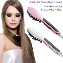 Brush Fast Hair Straightener Combs LCD Electric Professional Hair Straightener Brush Straightening Irons Comb Iron Styling