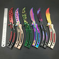 NEW CS GO Karambit folding Knife butterfly fade colorful color game knife dull blade no edge tool practice butterfly in knife