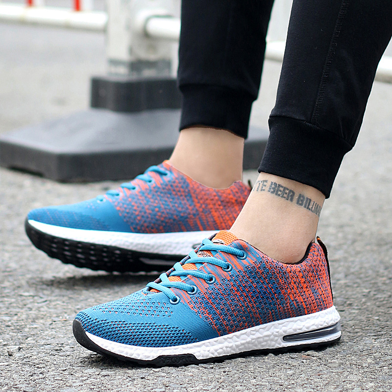 super Cool new flying air cushion sports men shoes lace up running shoes explosion wind mesh Breathable Basketball shoes