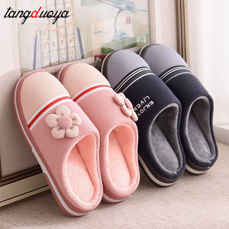 flower slippers women winter shoes women slippers warm indoor shoes men slippers ladies shoes home pantufas de pelucia adulto цена 2017