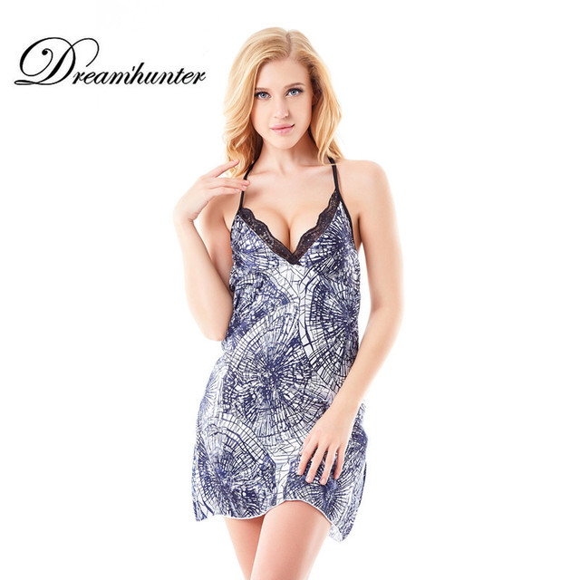 Plus sexy size nightgowns blue