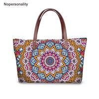 Nopersonality India Mandala Design Handbags for Women Summer Beach Big Bags Fashion Shoulder Bags Female Tote Bag Sac A Main