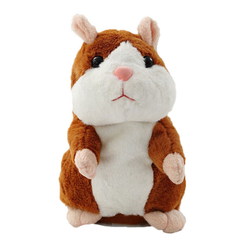 15CM Talking Hamster Mouse Plush Toy Speaking Sound Record Electronic Educational Talking Toys for Children Christmas Gift D30