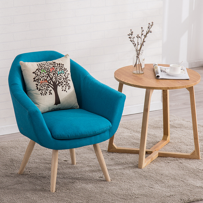 Modern Single Lounge Chair Cafe Office Restaurant Furniture Bedroom Study Nordic Minimalist Chair Sofa Dinning Chairs