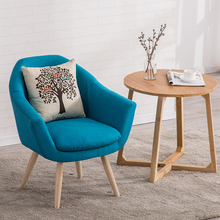 лучшая цена Modern Single Lounge Chair Cafe Office Restaurant Furniture Bedroom Study Nordic Minimalist Chair Sofa Dinning Chairs