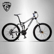 LAUXJACK Горный двухподвесной велосипед алюминиевая рама 26″ колеса 24/27 скорости Shimano Altus гидравлические/механические тормоза