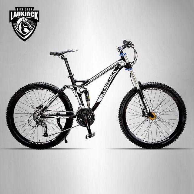 Lauxjack Mountain Bike Full Suspension Aluminum Frame 24 27 Speed