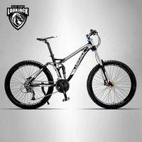 LAUXJACK Mountain Bike Full Suspension Aluminum Frame 24 27 Speed Hydraulic Mechanic Brake 26 Wheel
