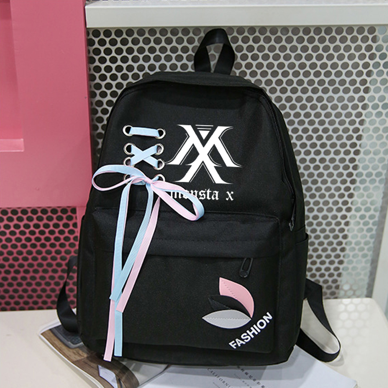 New Exo Got7 Stray Kids Canvas Backpack Women Harajuku Fashion Monsta X Twice Nct Canvas Bag Rucksacks Backpacks Sac A Dos Femme
