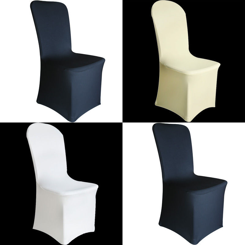 100 PCS SPANDEX LYCRA CHAIR COVER WHITE BLACK COVERS BANQUET WEDDING RECEPTION PARTY