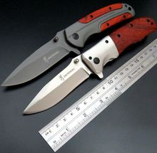 Efeng Custom Pocket Hunting YF Knife 5Cr13Mov Stainless Steel Blade Folding Tactical Knives For Survival Camping With Red Wood