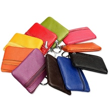 2018 Brand Casual Women Fashion Genuine Leather Car Key Holder Keyring Pouch Coin Purse Case Wallet