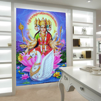 Papel De Parede Southeast Asia Thailand And India Yoga Hindu God Statues Buddha Mural Wallpaper