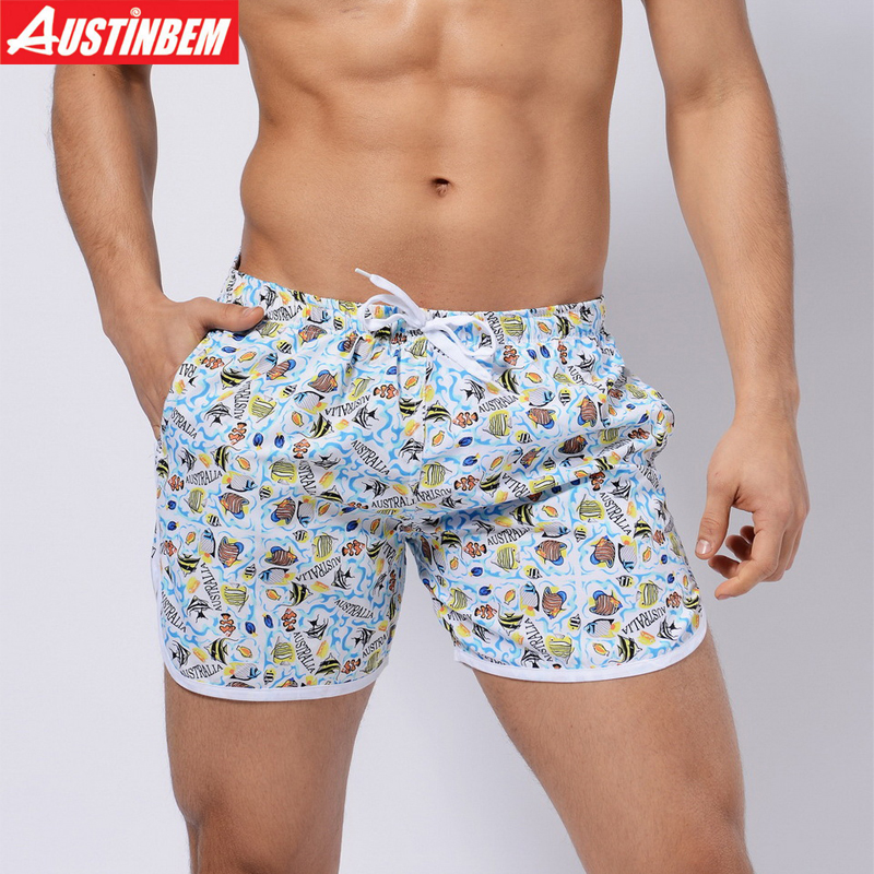 AUSTINBEM New 9 Colors Beach Shorts Men Swimwear Sexy Sunga Masculina Men'S Swimming Trunks Men Briefs Sport Men Swimsuit 329