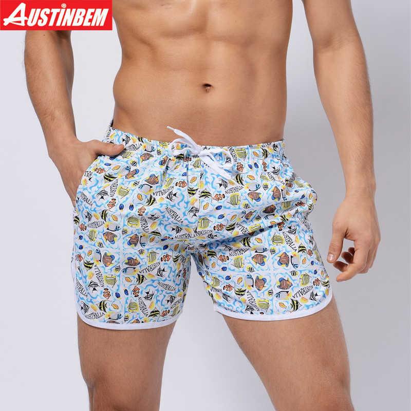 3667788076 AUSTINBEM new 9 colors beach Shorts Men Swimwear Sexy Sunga Masculina Men'S  Swimming Trunks men briefs