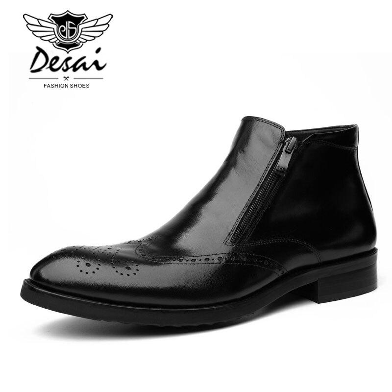 Nueva llegada zapatos formales de cuero genuino tallados para Hombre Zapatos de vestir de negocios de Punta puntiaguda moda clásica Casual de alta Parte superior zapatos de hombre-in Zapatos formales from zapatos    2