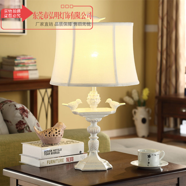 Tuda American Country Birds Candlestick Table Lamp For Bedroom Warm
