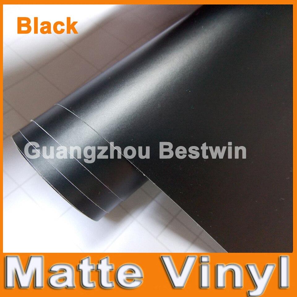 30 M un lot livraison gratuite de haute qualité noir mat vinyle enveloppe de voiture de vinyle autocollant de film avec air sortie bulle livraison