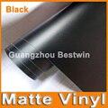 30M a lot free shipping high quality black matte vinyl car wrap vinyl car sticker film with air release bubble free