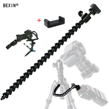 Flexible arm Bracket Bendable Flash Light Stand dslr camera adapter mount hot shoe flash Holder for LED Ligh