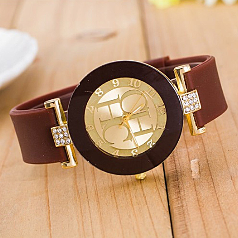 2020 Hot sale Fashion Black Geneva Casual CHHC Quartz Women watches Crystal Silicone Watches Relogio Feminino men's Wrist Watch 4