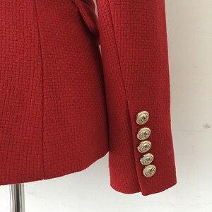 Image 5 - Chaqueta de lana de Tweed con botones de León para mujer, chaqueta clásica de diseñador para otoño e invierno, 2020