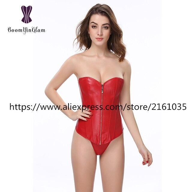 834 # Mulheres Cintura Corset Fita zíper Cintura Diária shapers emagrecimento Apliques Shapewear Bodysuit do espartilho de couro do falso