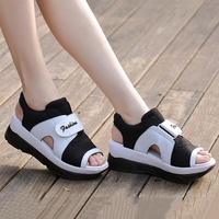 2016 Fashion Summer Women S Sandals Casual Sport Mesh Breathable Shoes Woman Comfortable Wedges Sandals Lace