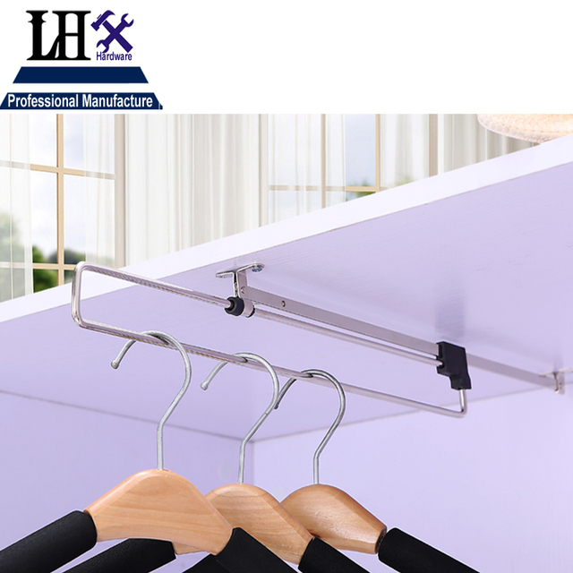LHX YP265 Women Wardrobe Clothes Rail Hanger Rod Airing Pole For Dress  Closet Cupboard Men Trouser