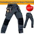 Poliamida de alta qualidade dos homens desgaste-resistência multi-bolsos de carga calças workwear trabalho pant Preto/azul Escuro/verde do exército/Cinza