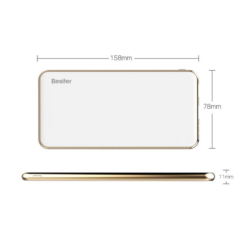 Besiter célula de la batería 10000 mah banco de la energía para los teléfonos mó