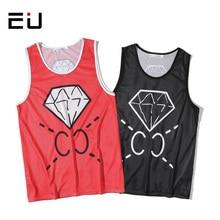 EU Slimmer Men Basketball Jersey Women Single Layer Quick Dry Tank Tops Men Running Shirts Summer Quick Dry Fitness Gym Shirts