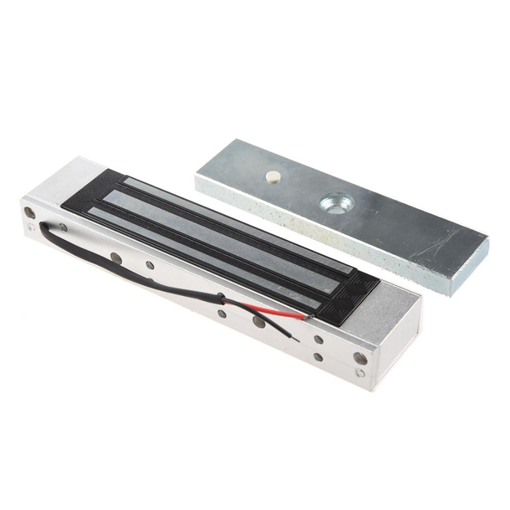 باب واحد 12 فولت الكهربائية المغناطيسي قفل الكهرومغناطيسي 180 كجم (350LB) القوة القابضة للتحكم في الوصول الفضة-في قفل كهربائي من الأمن والحماية على