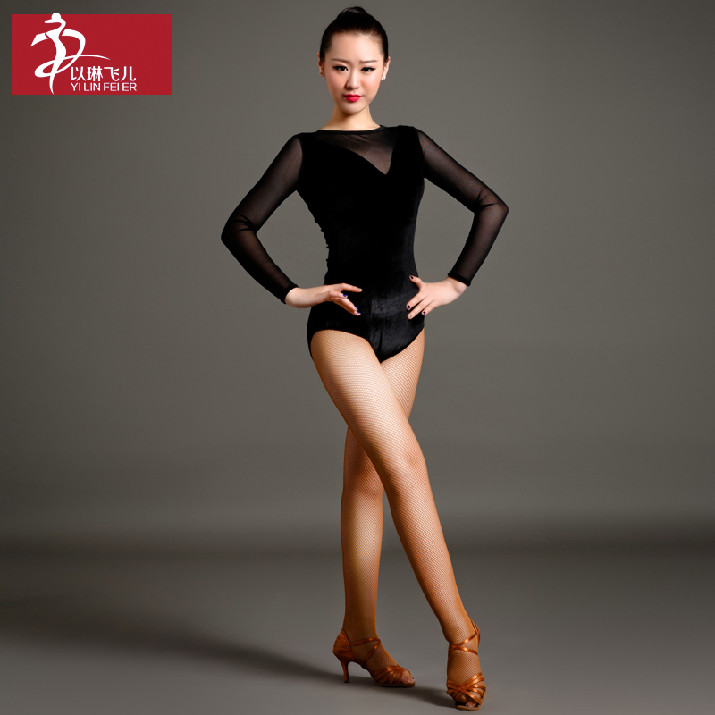 2017 Ballroom Dress Fringe Dress Elim Son Art Class Velvet Leotard A Long Sleeved Jacket Coat Gb007 Dance For Acrobatics Show ...