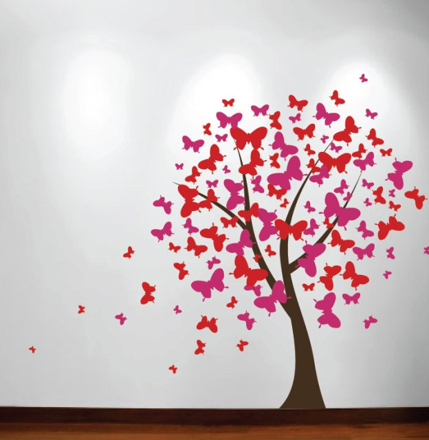 Marvelous Kids Playroom Large Tree Wall Decal Baby Nursery Decal Butterfly Cherry  Blossom Wall Art Poster Vinyl
