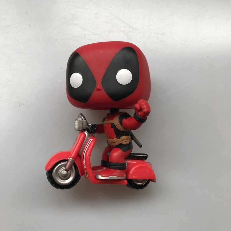 Original Funko pop Ride Marvel: Deadpool & Scooter Vinyl Action Figure Collectible Model Loose Toy