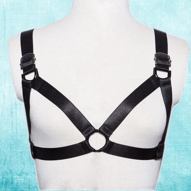 Ligas de la ropa interior de bondage fetiche sexy desgaste mujeres bra punk rock body harness cinturones mujer secreta jaula bikini underwear o0130