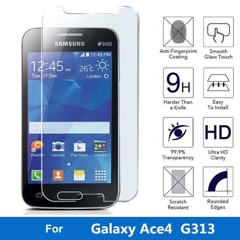 Premium Anti Deflagrant Trempe Protecteur Decran En Verre Pour Samsung Galaxy Ace 4 Lite Duos Tendance 2 G313 De Protection Film Garde Dans Equipee Cas