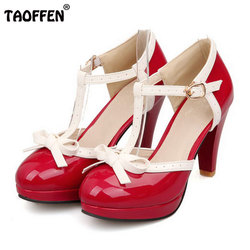 Size 32 48 women high heel sandals round toe square heels shoes women s platform sandals.jpg 250x250