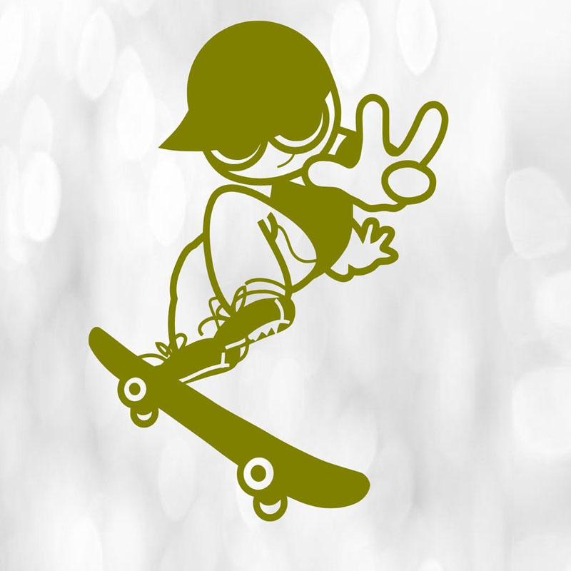 Boys Skater Wall Stickers Home Decor Kids Bedroom Wall Decals Vinyl ...
