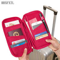 RHXFXTL Women Travel Organizer Passport Pack Holder Card Package Credit Card Holder Wallet Document Package Travel accessories