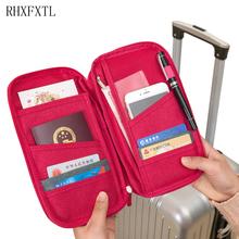 RHXFXTL kobieta Travel Organizer paszport pakiet posiadacz karty kredytowej posiadacz karty portfel dokument Akcesoria podróżne tanie tanio Nylon 2 cm Portfele paszportowe 15cm 130g 25 5 cm Polecenie RHXFXTL Stałe