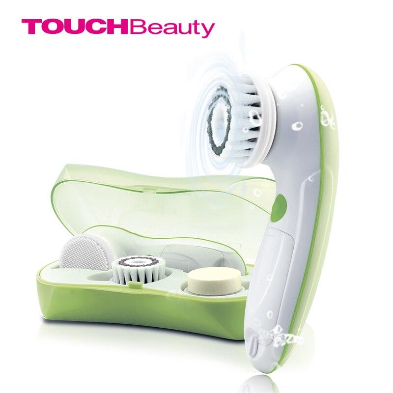 Touchbeauty 3 in1 rotação escova de limpeza facial conjunto com 3 cabeças de escova de substituição, 2 configurações de velocidade com caixa de armazenamento TB-0759A