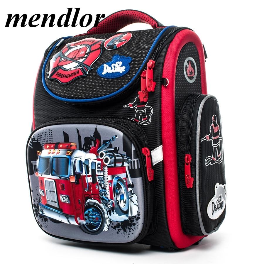 Boys Backpacks Children Orthopedic School Bookbag Primary Schoolbag Grade 1-5