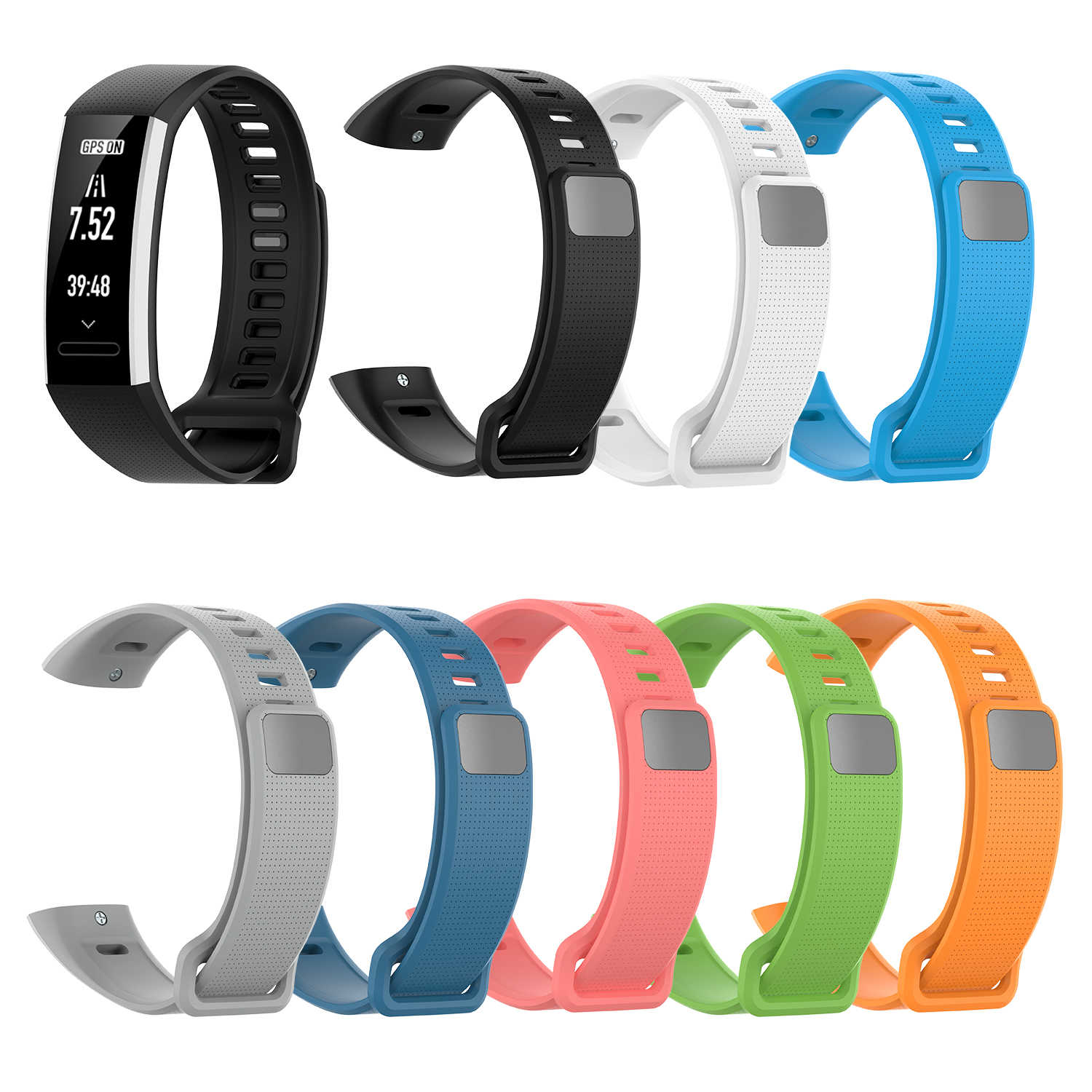 Strap In Stock TPE Bracelet for Huawei Honor Band2 Pro Band2 ERS-B19 ERS-B29 Sports Automated Bracelet Group Honor Band  Belt